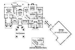 Floor Plan for House Plan #035-00177