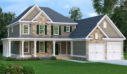 4 Bed, 3 Bath, 3317 Square Foot House Plan - #009-00066