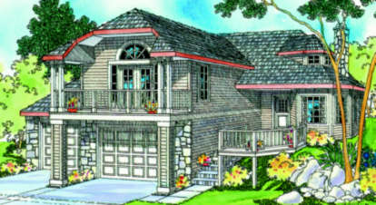 2 Bed, 2 Bath, 1718 Square Foot House Plan - #035-00179