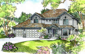 Traditional House Plan #035-00181 Elevation Photo