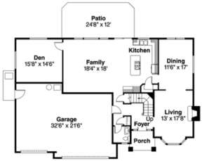 Floorplan 1 for House Plan #035-00181