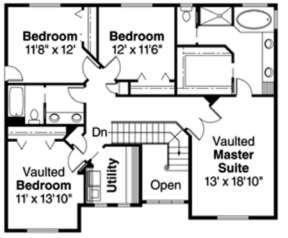 Floorplan 2 for House Plan #035-00181