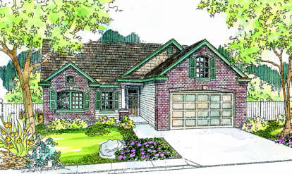 2 Bed, 2 Bath, 1774 Square Foot House Plan - #035-00183