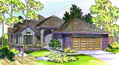 3 Bed, 2 Bath, 1743 Square Foot House Plan - #035-00185