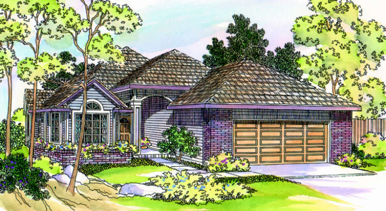 Traditional House Plan #035-00185 Elevation Photo