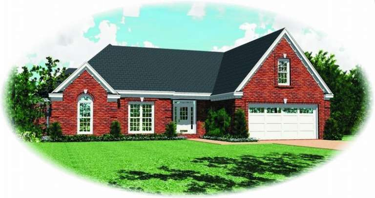French Country House Plan #053-00896 Elevation Photo