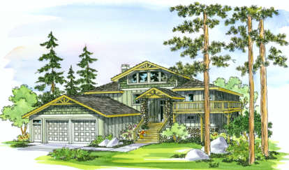 5 Bed, 4 Bath, 3141 Square Foot House Plan - #035-00188