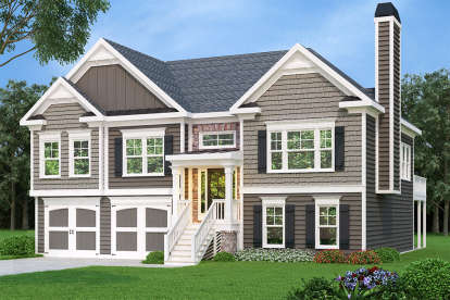 3 Bed, 2 Bath, 1678 Square Foot House Plan - #009-00067