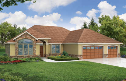3 Bed, 2 Bath, 2272 Square Foot House Plan - #035-00190
