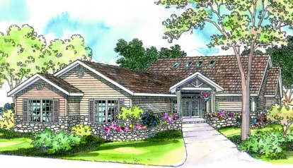 3 Bed, 2 Bath, 2673 Square Foot House Plan - #035-00192