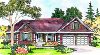 3 Bed, 3 Bath, 2712 Square Foot House Plan - #035-00194