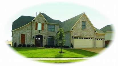4 Bed, 3 Bath, 3408 Square Foot House Plan - #053-00976