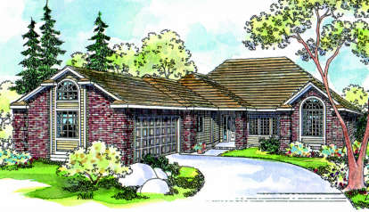 3 Bed, 2 Bath, 2383 Square Foot House Plan - #035-00195