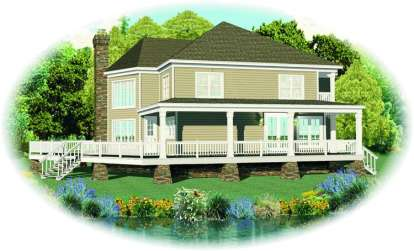 3 Bed, 2 Bath, 2653 Square Foot House Plan - #053-00983