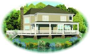 Country House Plan #053-00985 Elevation Photo