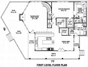 Floorplan 1 for House Plan #053-00985