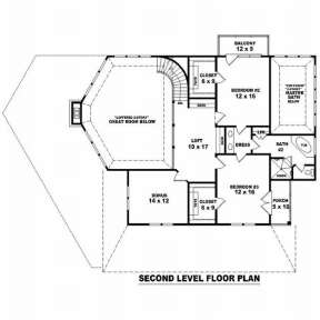 Floorplan 2 for House Plan #053-00985