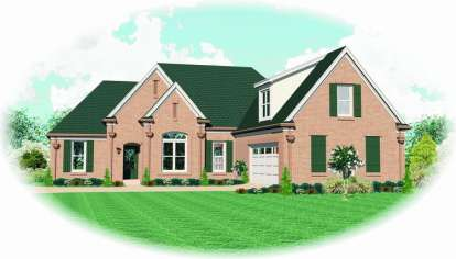 3 Bed, 3 Bath, 2383 Square Foot House Plan - #053-00999