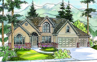 3 Bed, 2 Bath, 3076 Square Foot House Plan - #035-00197
