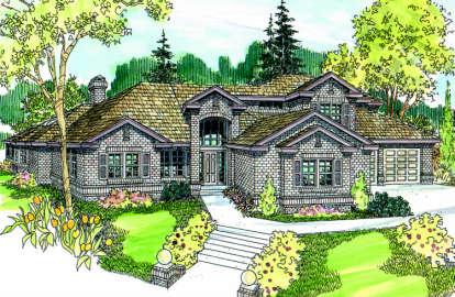 4 Bed, 2 Bath, 3985 Square Foot House Plan - #035-00198