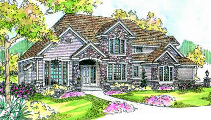 4 Bed, 3 Bath, 3798 Square Foot House Plan - #035-00200