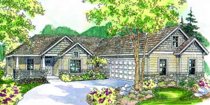4 Bed, 2 Bath, 2223 Square Foot House Plan - #035-00203