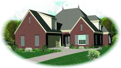 4 Bed, 3 Bath, 3141 Square Foot House Plan - #053-01065