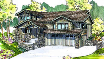 3 Bed, 2 Bath, 2489 Square Foot House Plan - #035-00205
