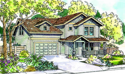 3 Bed, 1 Bath, 1410 Square Foot House Plan - #035-00208