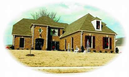 4 Bed, 3 Bath, 3394 Square Foot House Plan - #053-01114