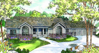 3 Bed, 2 Bath, 2260 Square Foot House Plan - #035-00210