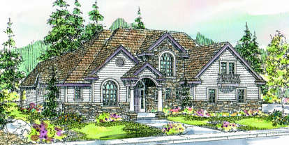 3 Bed, 2 Bath, 3204 Square Foot House Plan - #035-00211