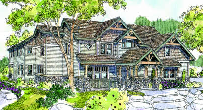 4 Bed, 4 Bath, 4939 Square Foot House Plan - #035-00212