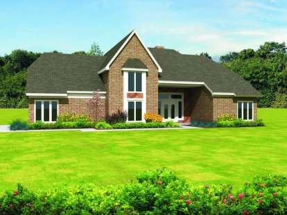 4 Bed, 3 Bath, 3299 Square Foot House Plan - #053-01178