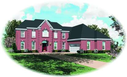 4 Bed, 3 Bath, 3825 Square Foot House Plan - #053-01197