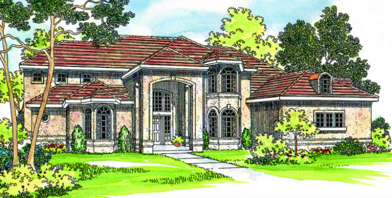 Florida House Plan #035-00218 Elevation Photo