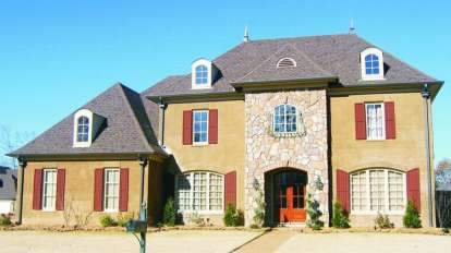 5 Bed, 4 Bath, 3564 Square Foot House Plan - #053-01215