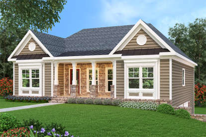 3 Bed, 2 Bath, 1669 Square Foot House Plan - #009-00070