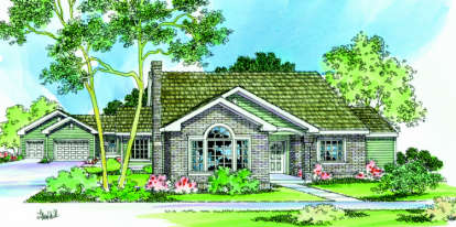 3 Bed, 3 Bath, 2056 Square Foot House Plan - #035-00220