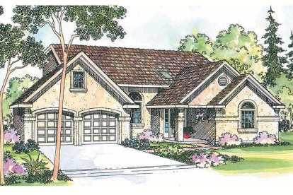 3 Bed, 2 Bath, 1761 Square Foot House Plan #035-00222