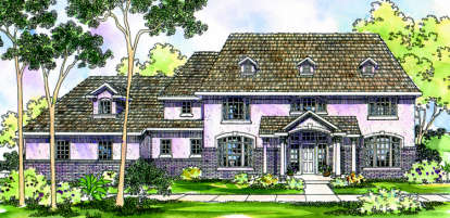 4 Bed, 4 Bath, 4022 Square Foot House Plan - #035-00223