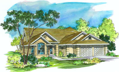 3 Bed, 2 Bath, 2198 Square Foot House Plan - #035-00224