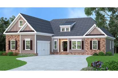 3 Bed, 2 Bath, 2107 Square Foot House Plan - #009-00071