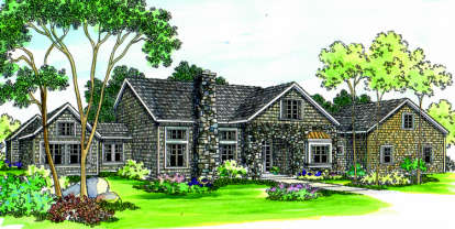 4 Bed, 3 Bath, 3016 Square Foot House Plan - #035-00229