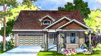 3 Bed, 2 Bath, 1822 Square Foot House Plan - #035-00232