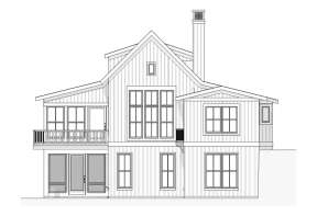 Lake Front House Plan #1637-00007 Elevation Photo