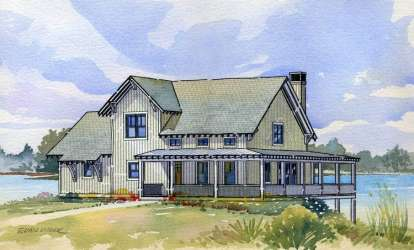 4 Bed, 3 Bath, 1681 Square Foot House Plan - #1637-00011