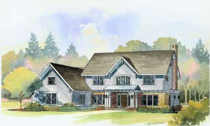 4 Bed, 3 Bath, 3492 Square Foot House Plan - #1637-00022