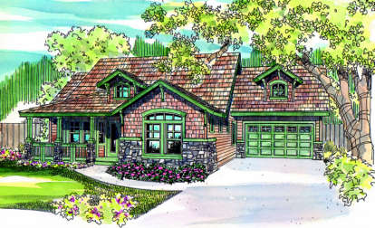 3 Bed, 2 Bath, 2535 Square Foot House Plan - #035-00235