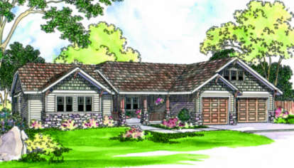4 Bed, 3 Bath, 2481 Square Foot House Plan - #035-00236